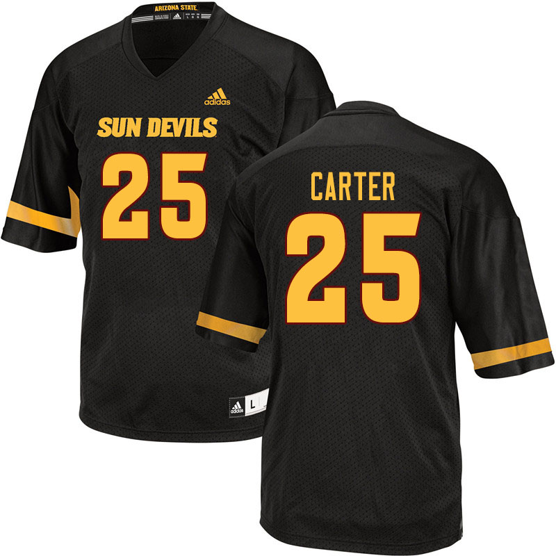 Men #25 A.J. Carter Arizona State Sun Devils College Football Jerseys Sale-Black