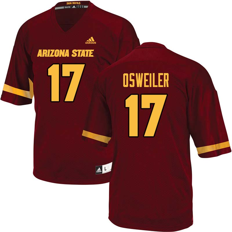 Men #17 Brock Osweiler Arizona State Sun Devils College Football Jerseys Sale-Maroon