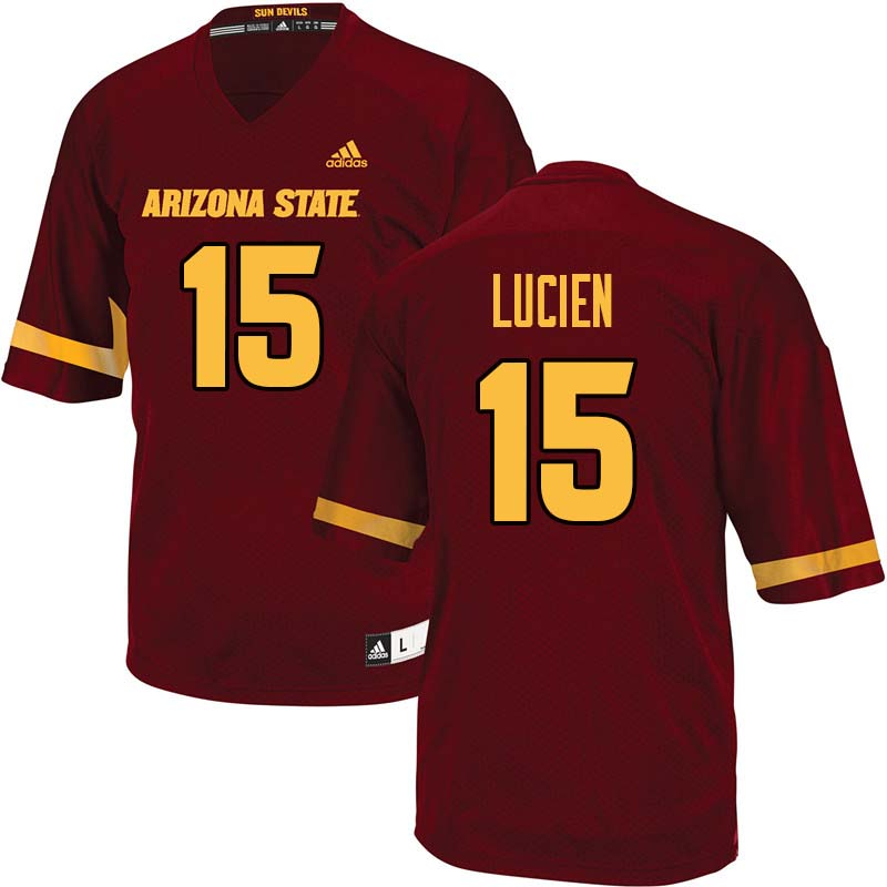 Men #15 Devin Lucien Arizona State Sun Devils College Football Jerseys Sale-Maroon