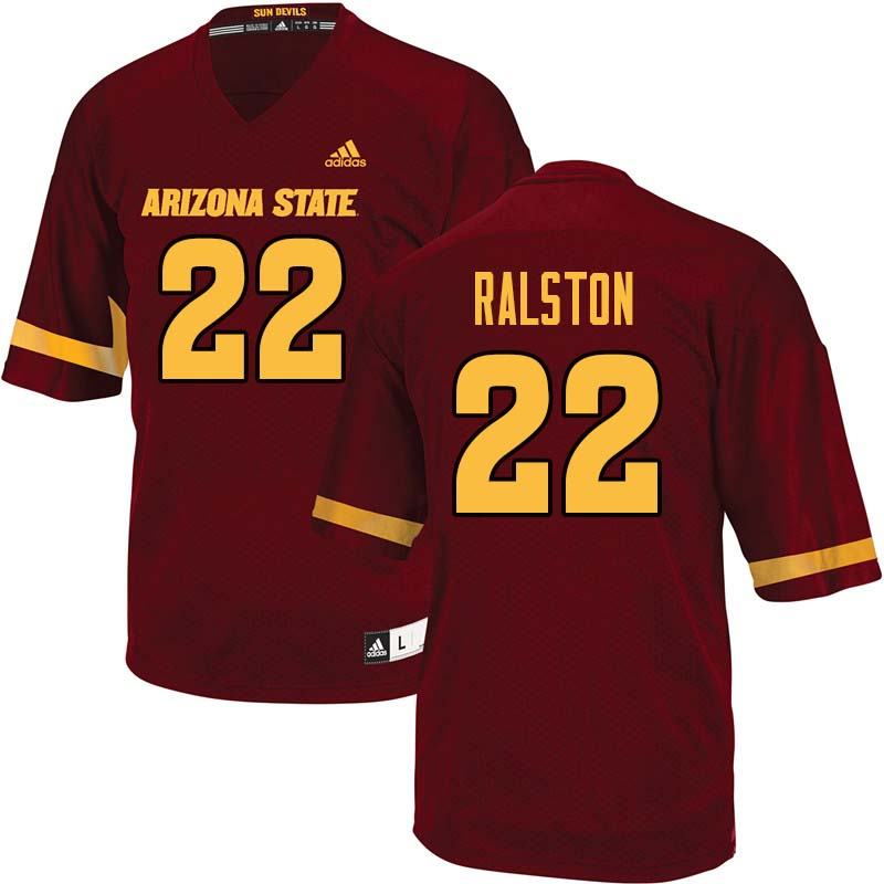 Men #22 Nick Ralston Arizona State Sun Devils College Football Jerseys Sale-Maroon