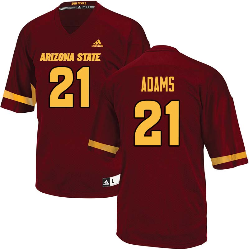 Men #21 Terin Adams Arizona State Sun Devils College Football Jerseys Sale-Maroon