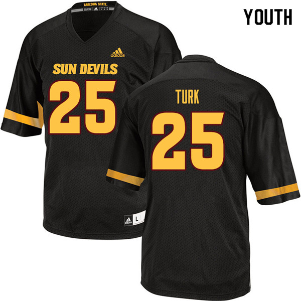 Youth #25 Michael Turk Arizona State Sun Devils College Football Jerseys Sale-Black