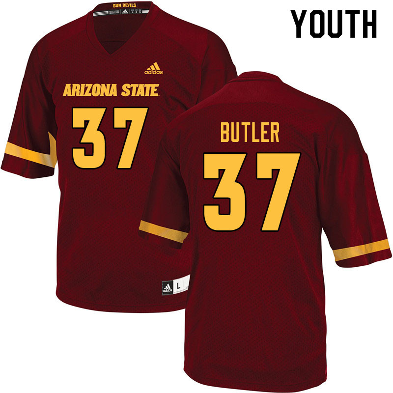Youth #37 Darien Butler Arizona State Sun Devils College Football Jerseys Sale-Maroon