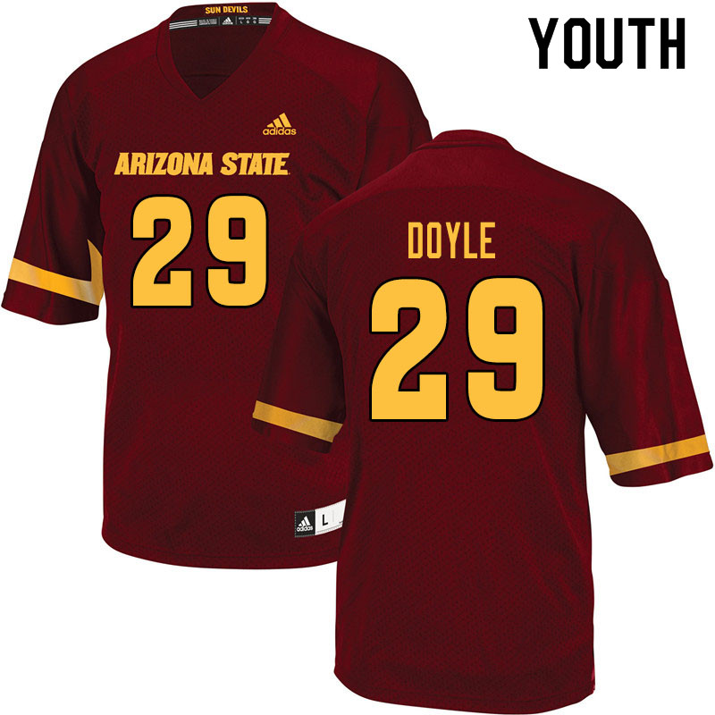 Youth #29 Ely Doyle Arizona State Sun Devils College Football Jerseys Sale-Maroon