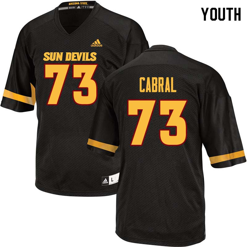 Youth #73 Cohl Cabral Arizona State Sun Devils College Football Jerseys Sale-Black