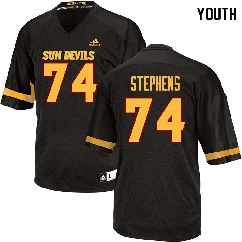 Youth #74 Corey Stephens Arizona State Sun Devils College Football Jerseys Sale-Black