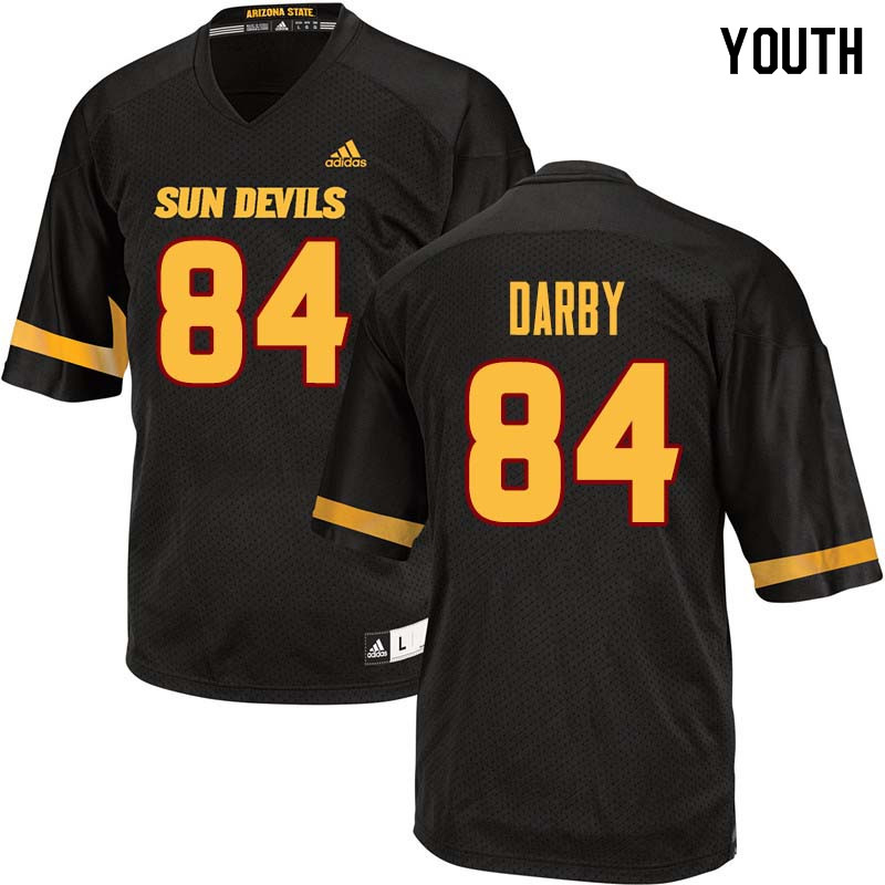 Youth #84 Frank Darby Arizona State Sun Devils College Football Jerseys Sale-Black