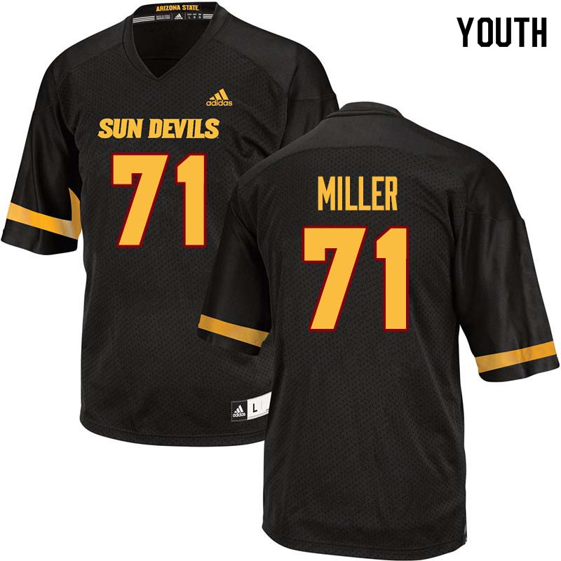 Youth #71 Steven Miller Arizona State Sun Devils College Football Jerseys Sale-Black